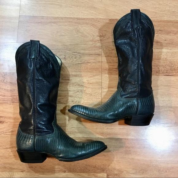 3888d046586 Vintage Cowboy Boots Larry Mahan Leather 7